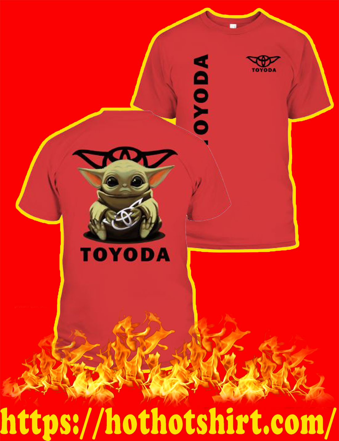 Toyoda Baby Yoda T-shirt-red
