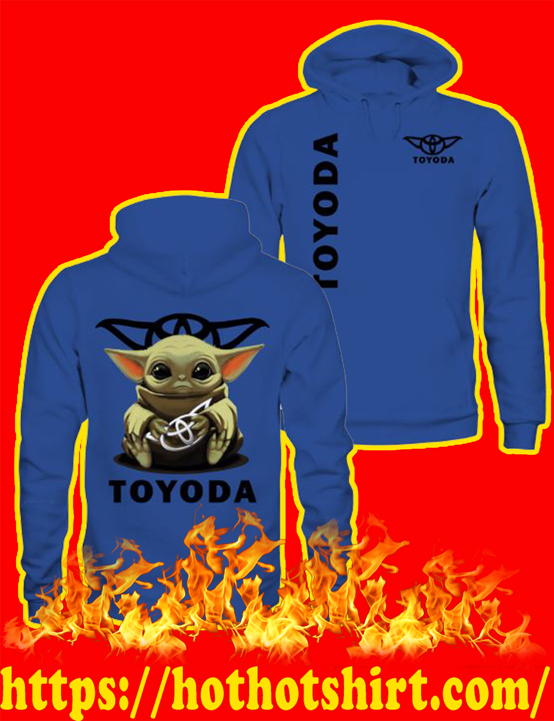 Toyoda Hoodie-royal blue