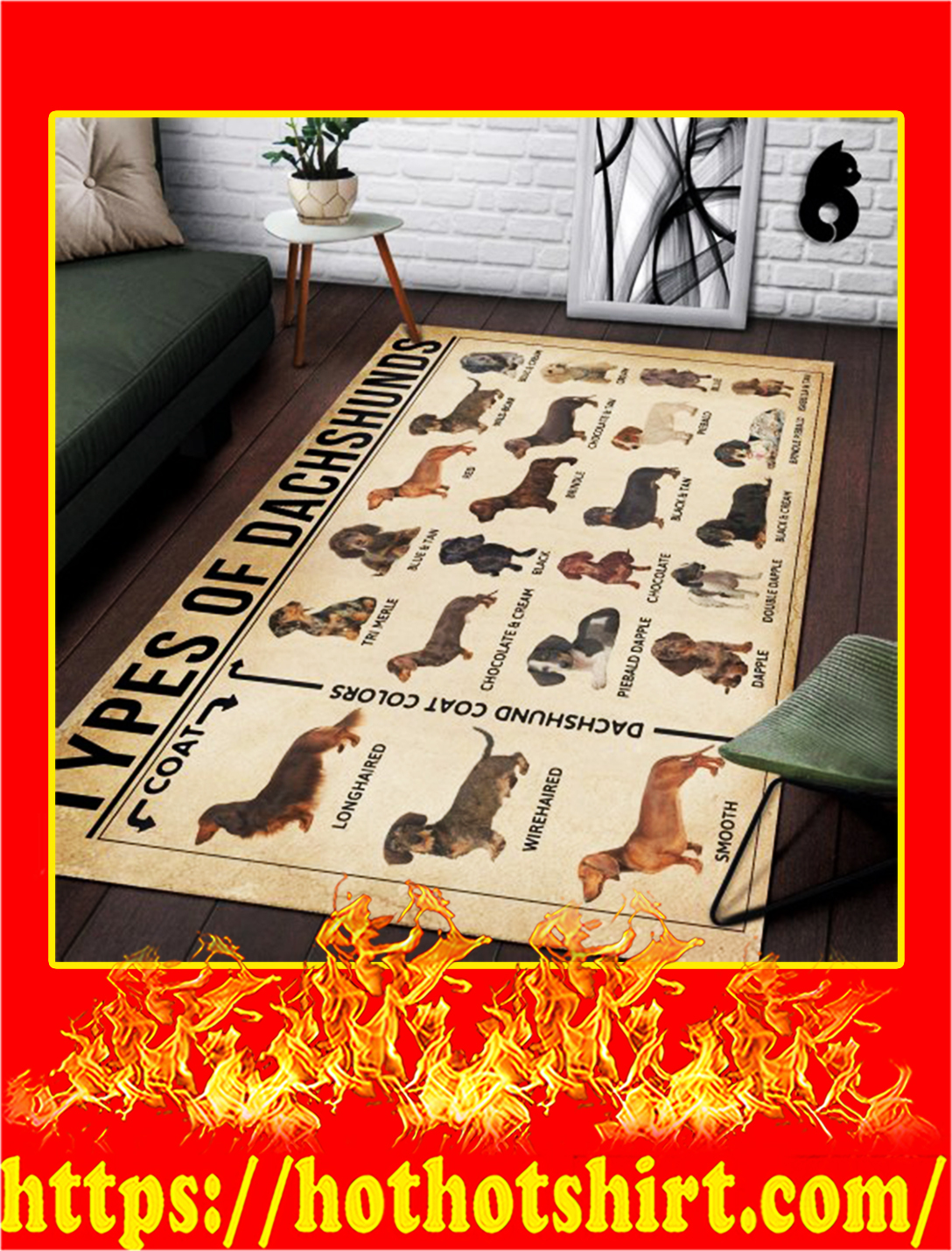 Types Of Dachshunds Rug- large