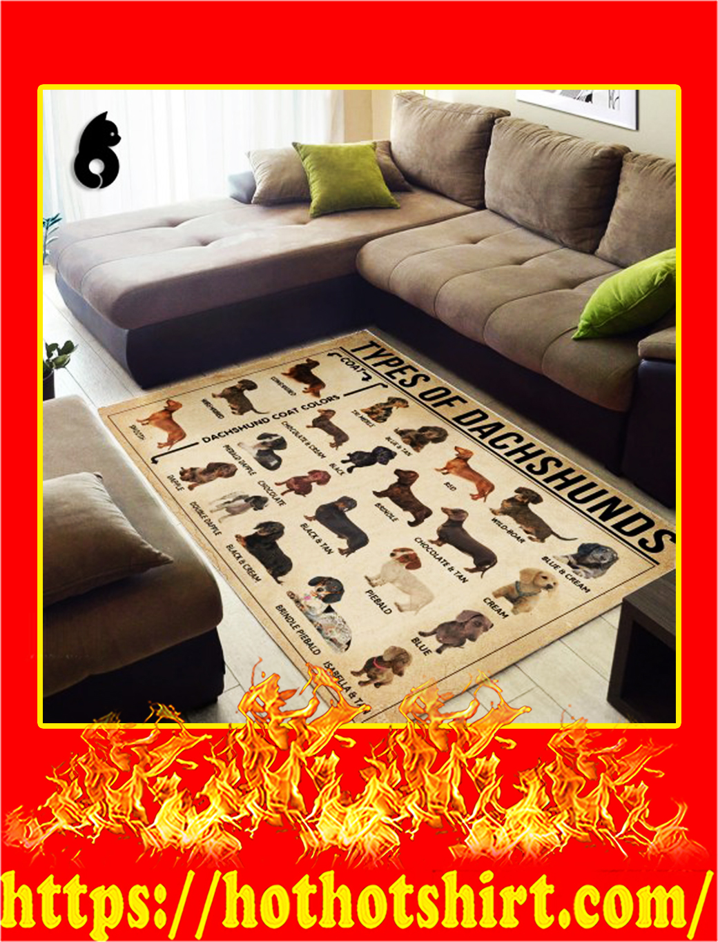 Types Of Dachshunds Rug- small