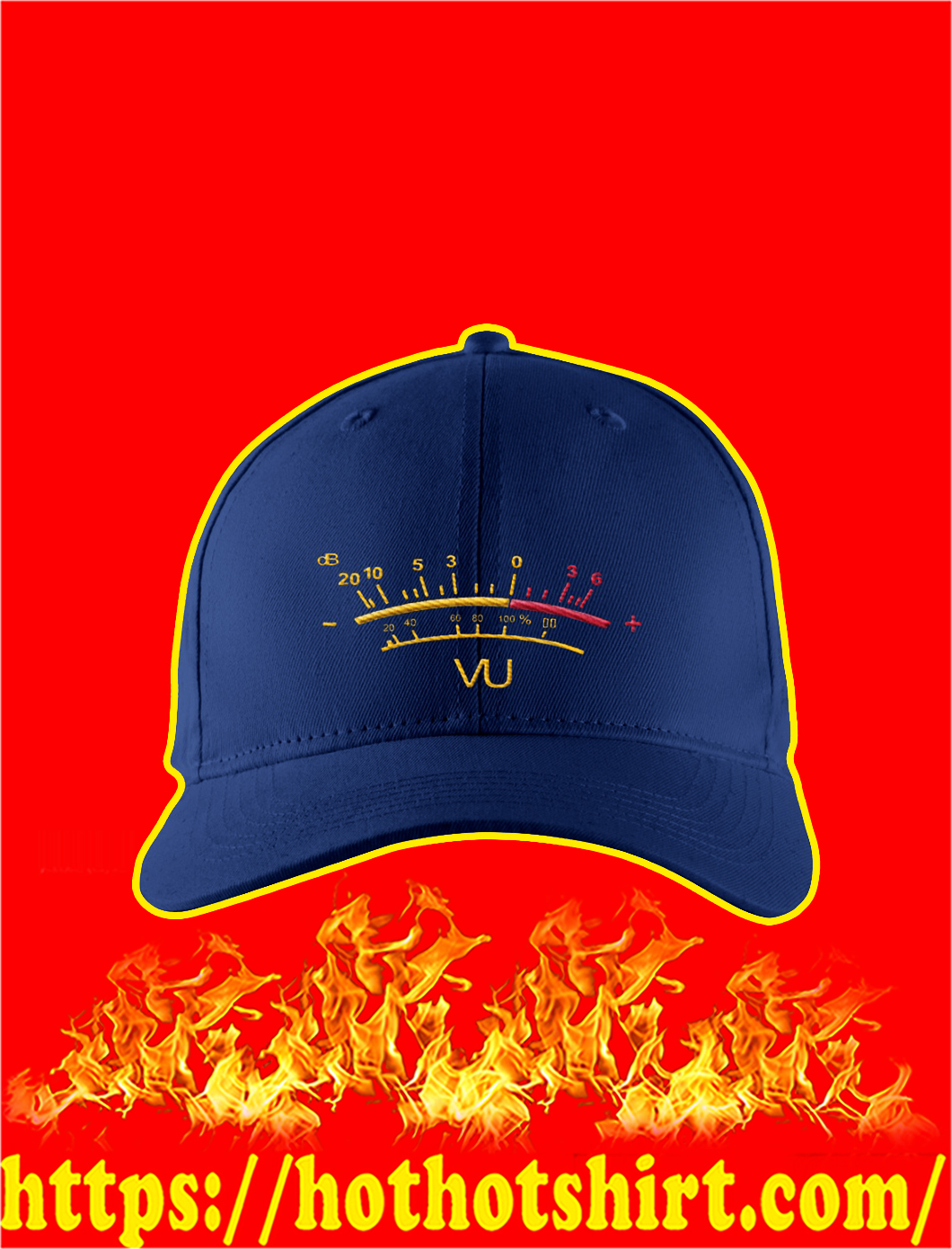 VU Meter Embroidered Hat- navy