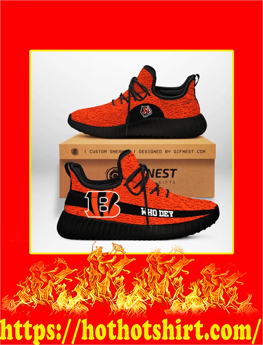 Who Dey Cincinnati Bengals NFL Yeezy Sneaker - black