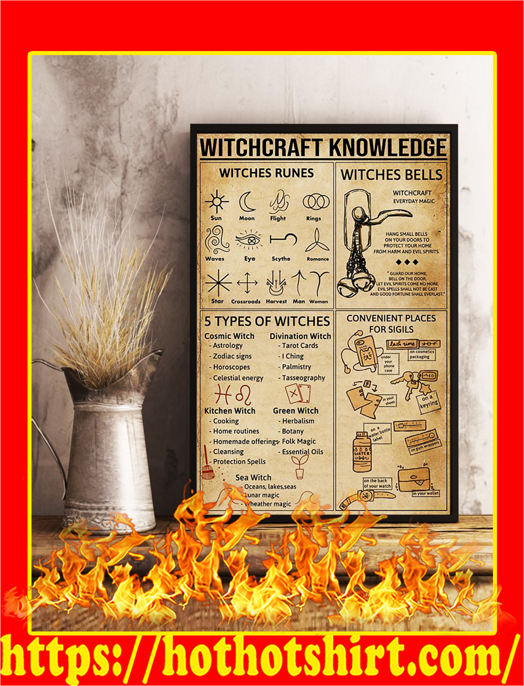 Witchcraft Knowledge Poster- A1