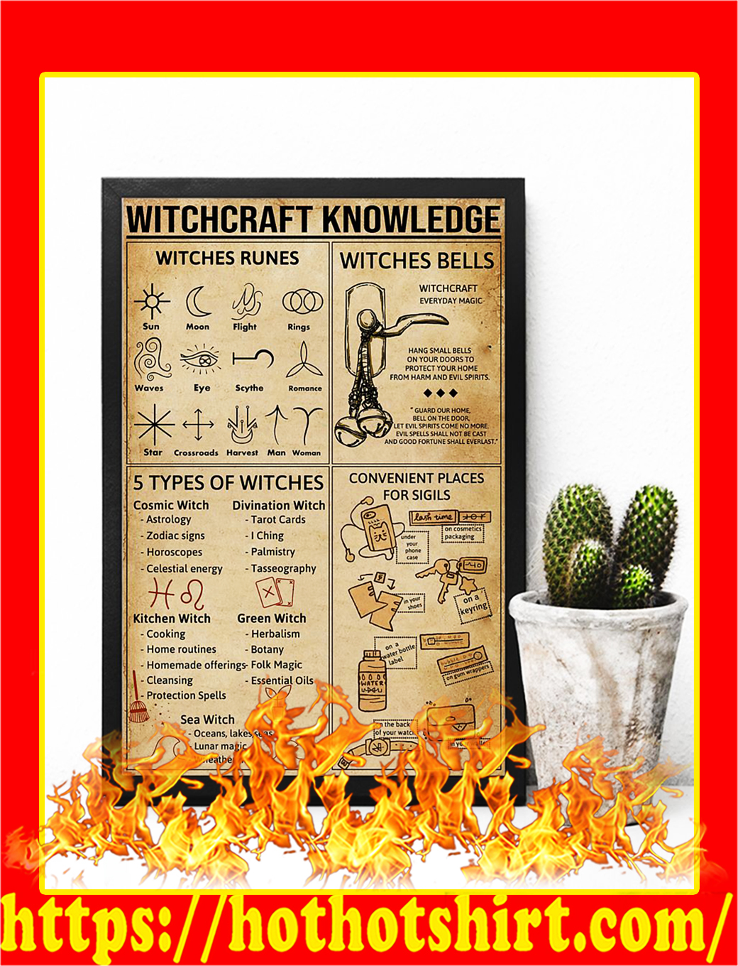 Witchcraft Knowledge Poster- A2