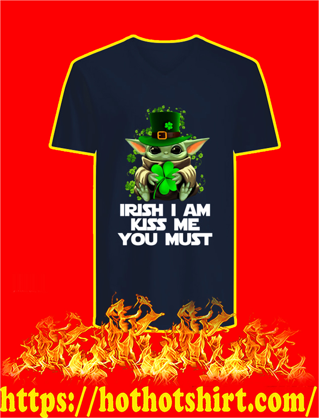 Yoda Irish I Am Kiss Me You Must v-neck