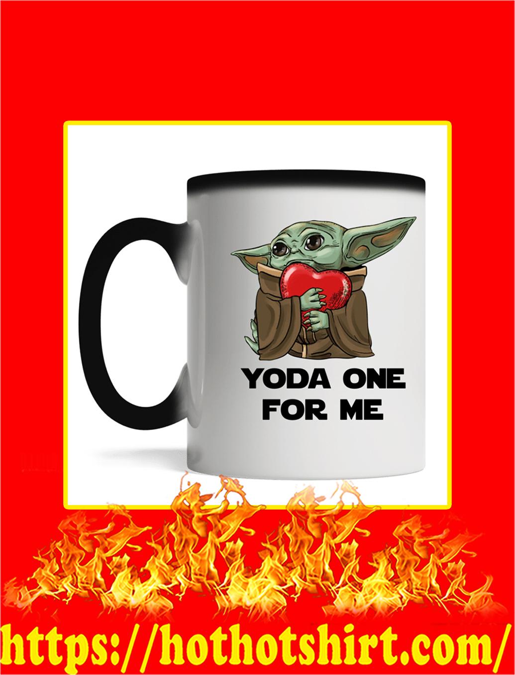 Yoda One For Me Mug- magic mug