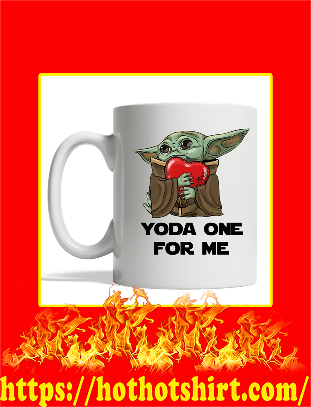 Yoda One For Me Mug- white