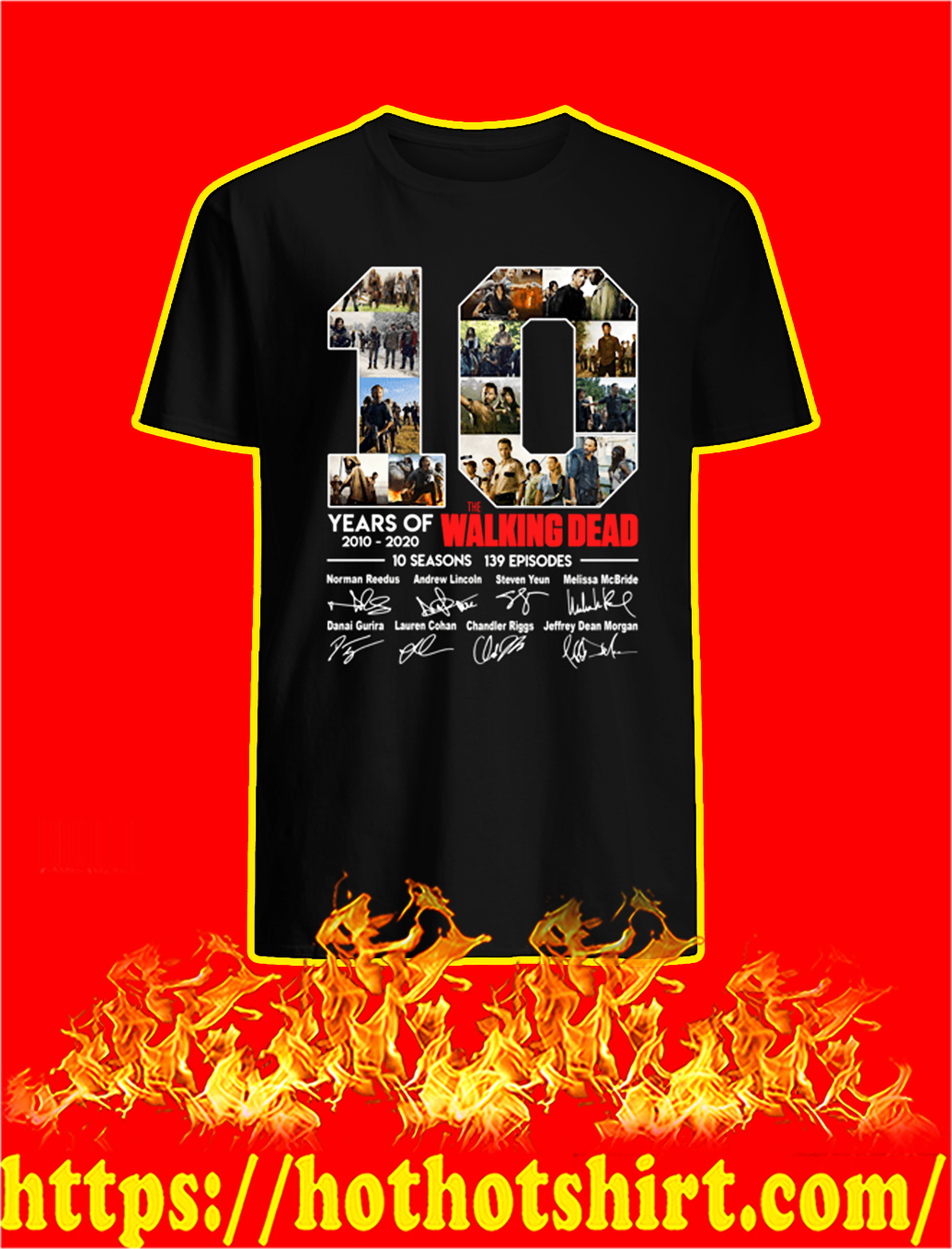 10 Years Of The Walking Dead Signature shirt10 Years Of The Walking Dead Signature shirt