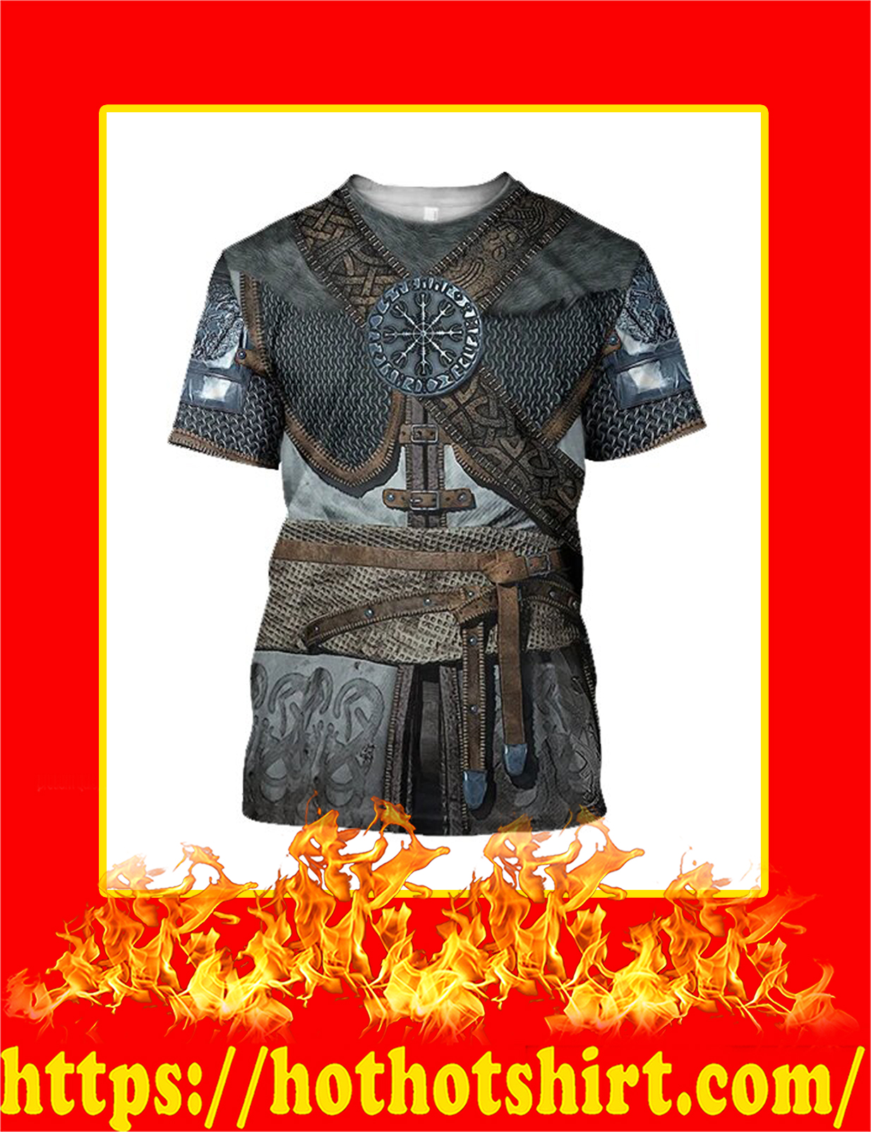 3D All Over Printed Vikings Armor T-Shirt