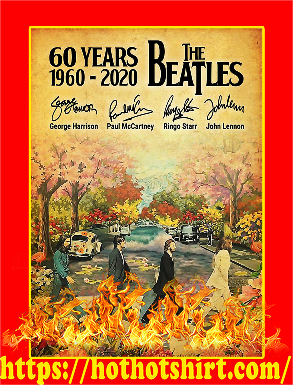 60 Years The Beatles Signature Poster - A2