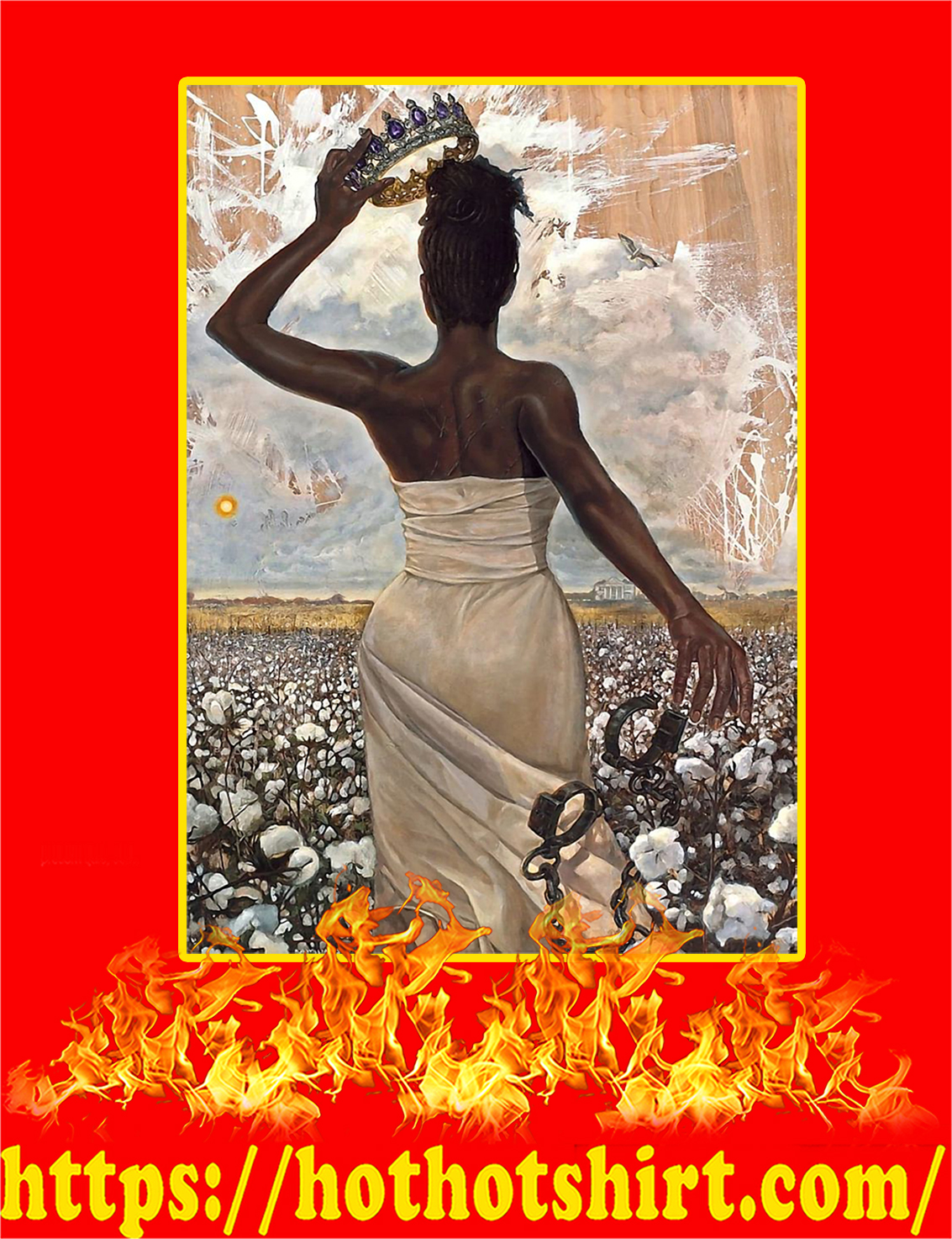 African American Black Queen Poster A4