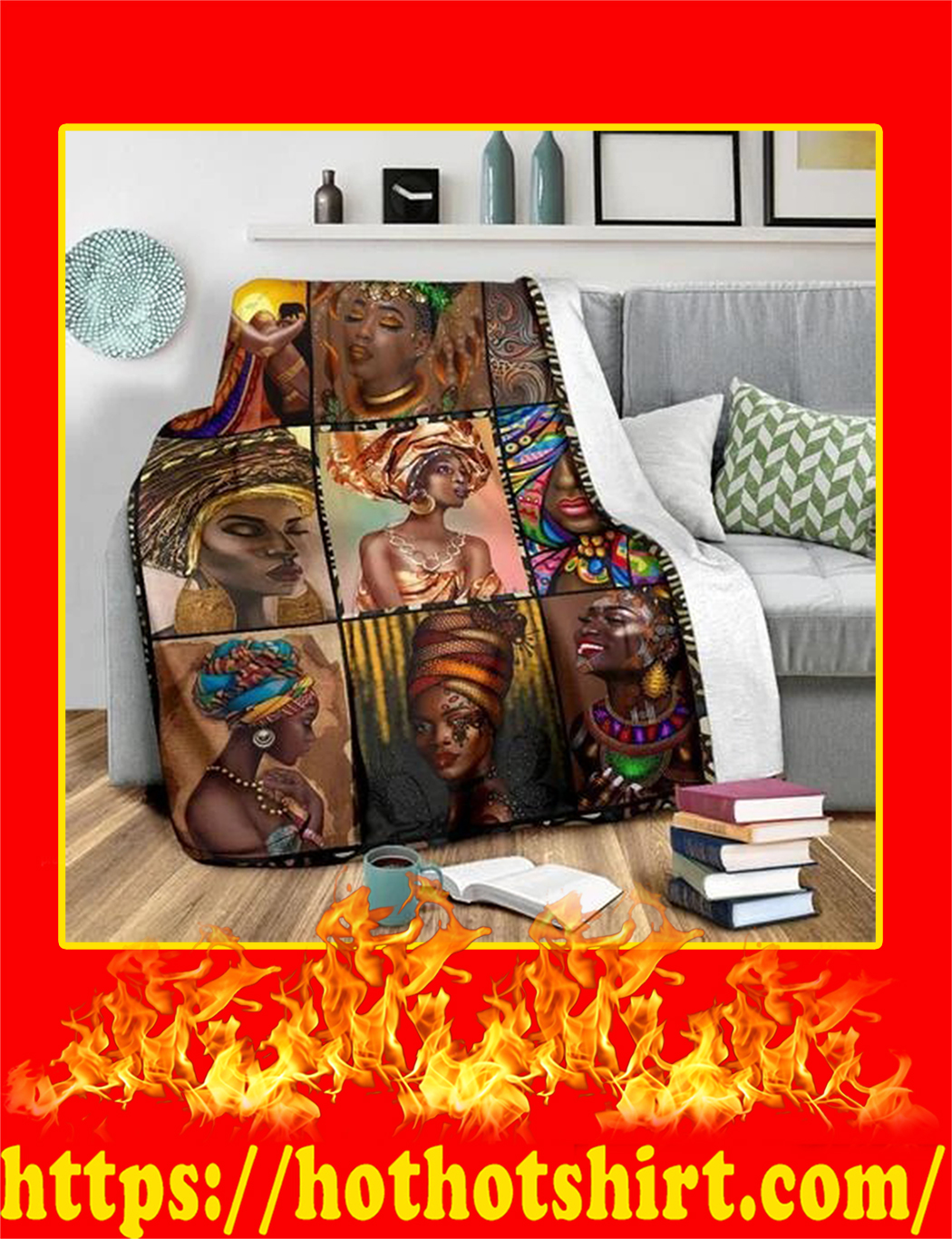 African Culture Blanket- large