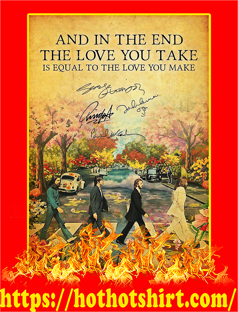 And In The End The Beatles Signature Poster - A4
