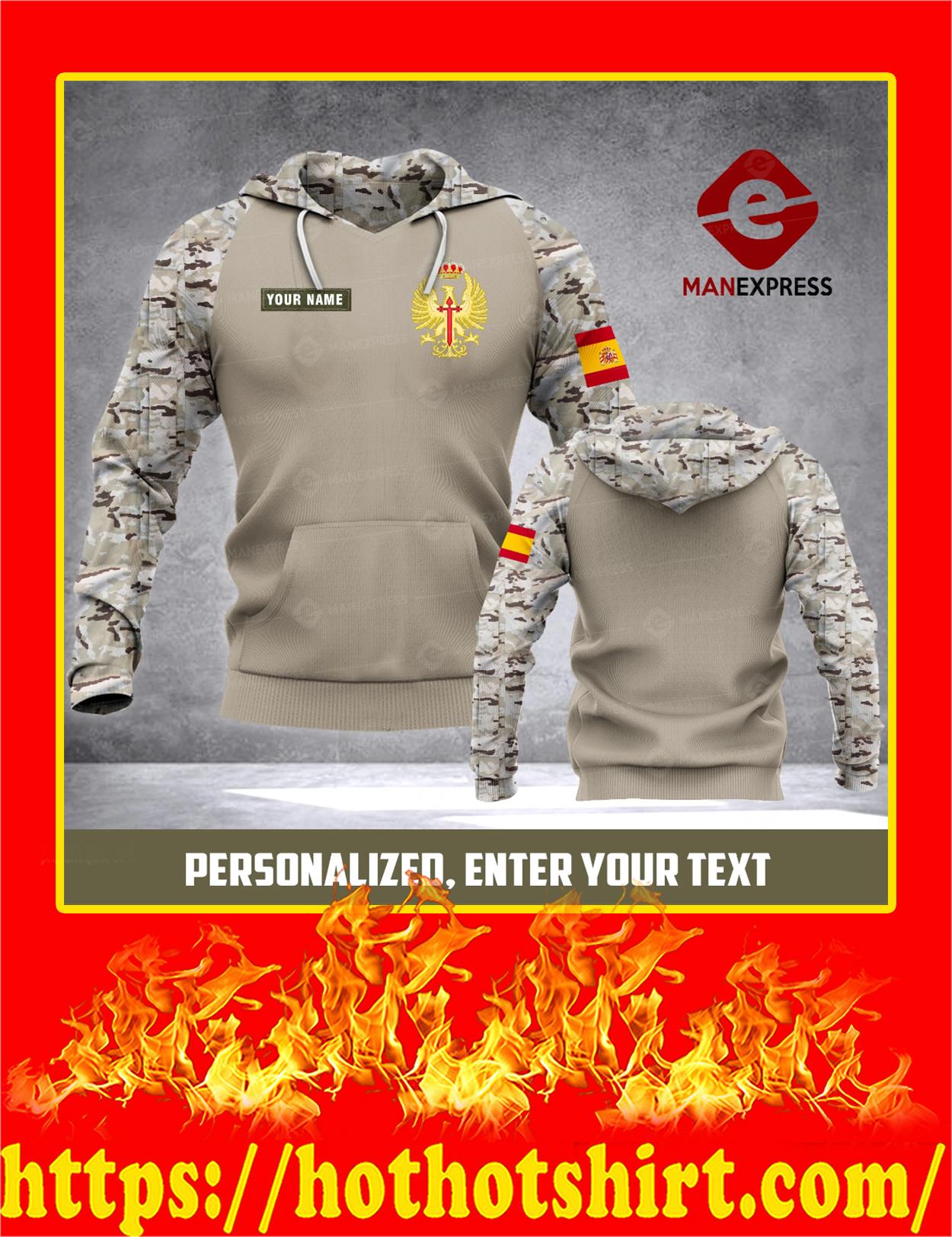 Army Spanish Customize Custom Name 3d hoodie