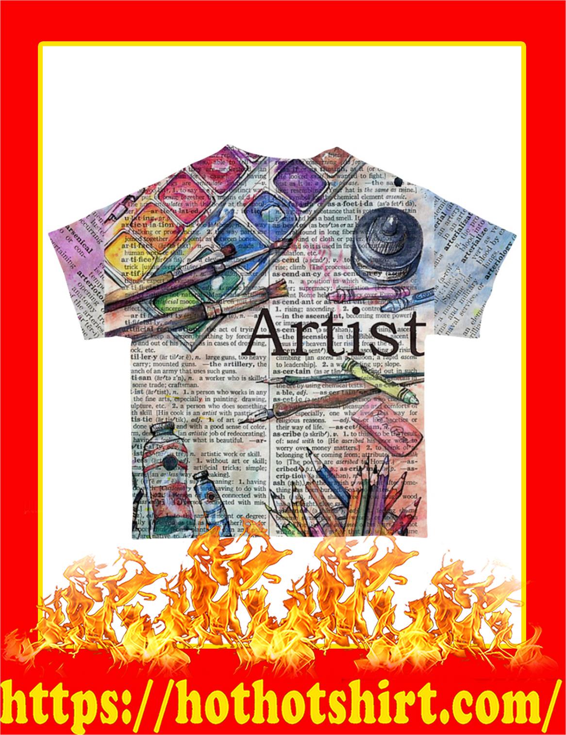 Artist All-Over T-Shirt - Back