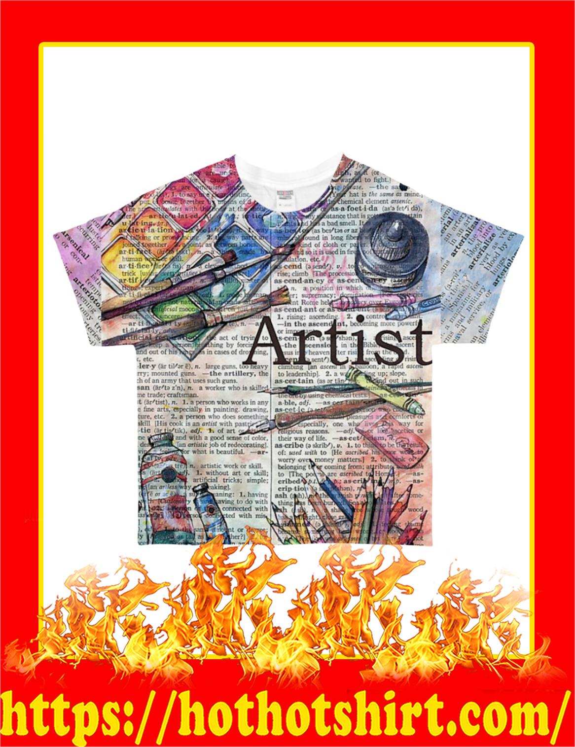 Artist All-Over T-Shirt - Front