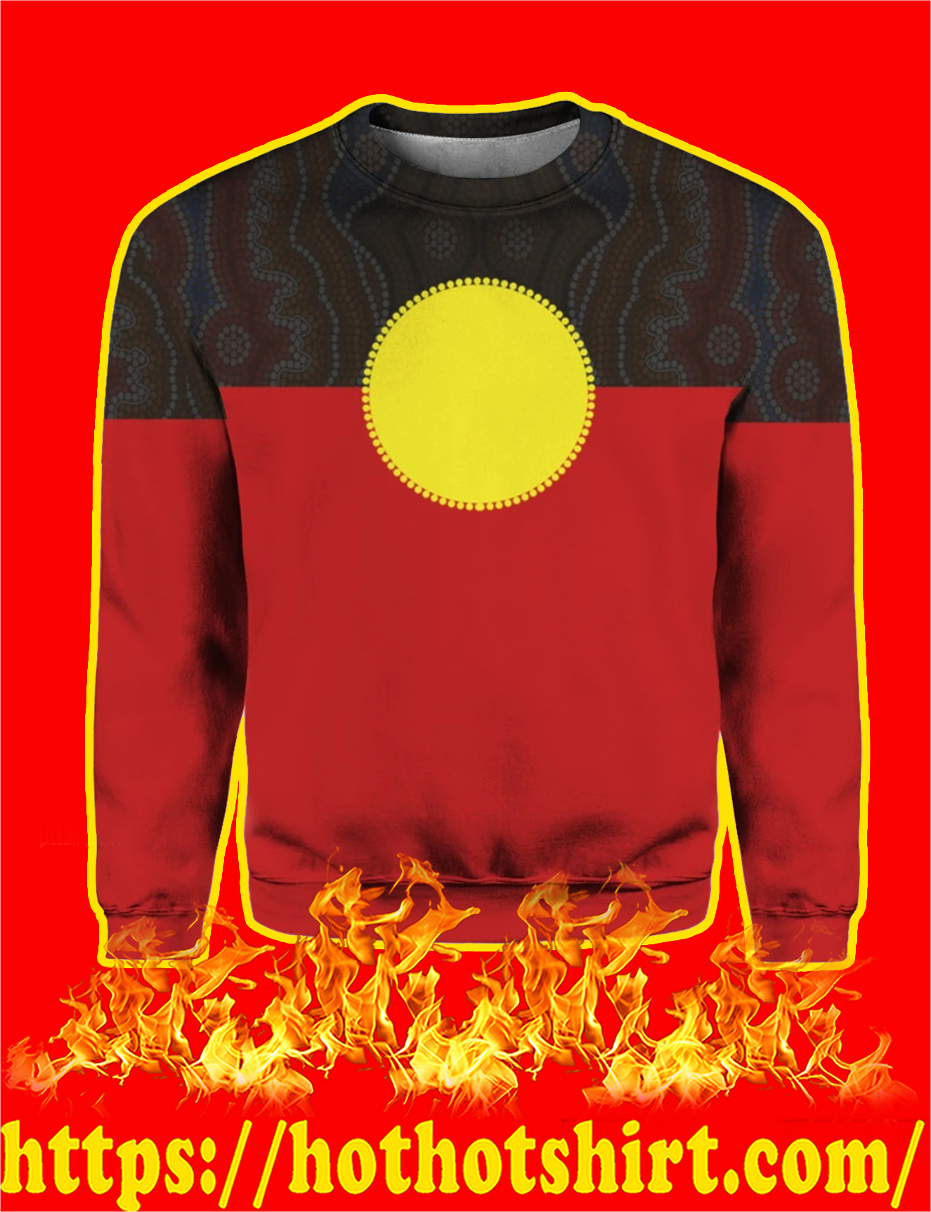 Australia Aboriginal Flag 3D All Over Printed Sweatshirt
