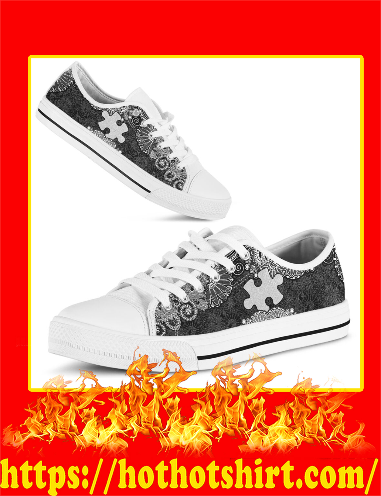 Autism Low Top Shoes - Pic 3