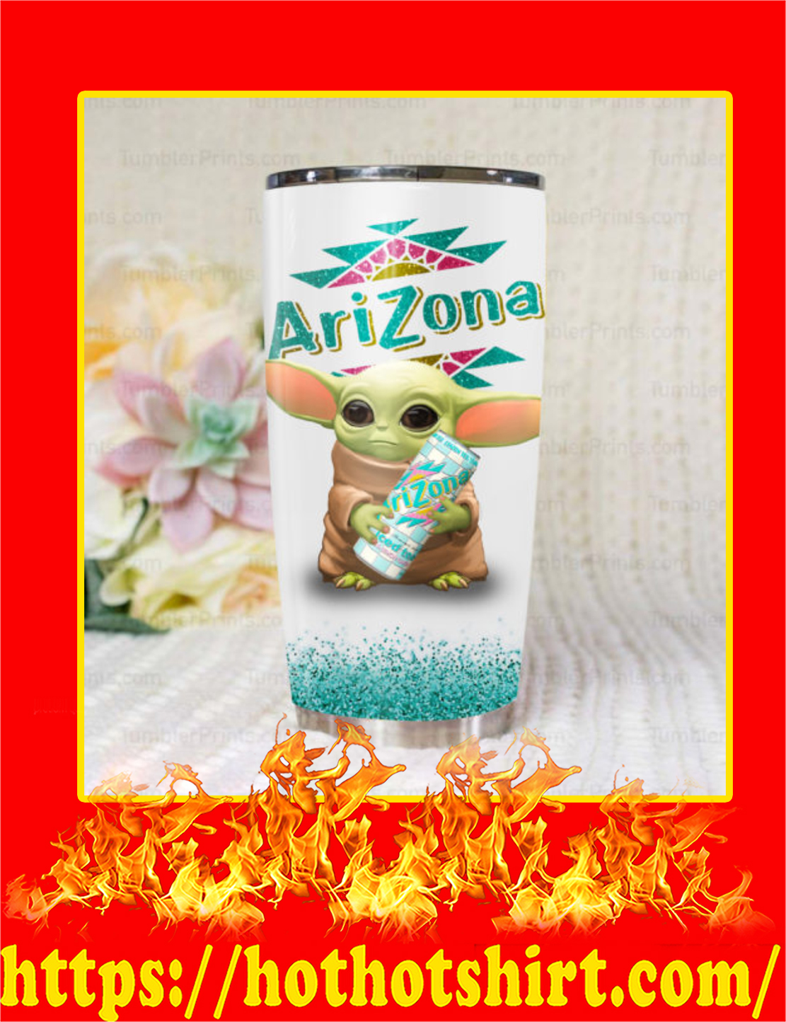 Baby Yoda Arizona Tea Tumbler - 20oz