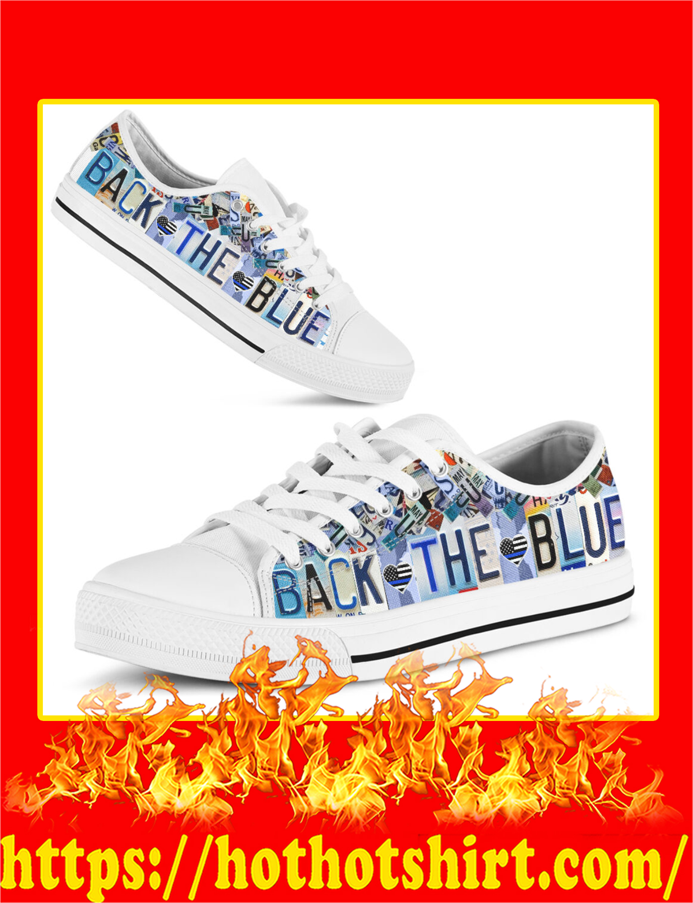 Back The Blue Low Top Shoes - Pic 1