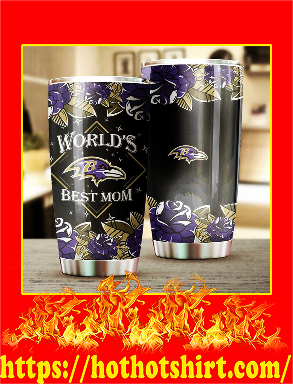 Baltimore Ravens World's Best Mom Tumbler