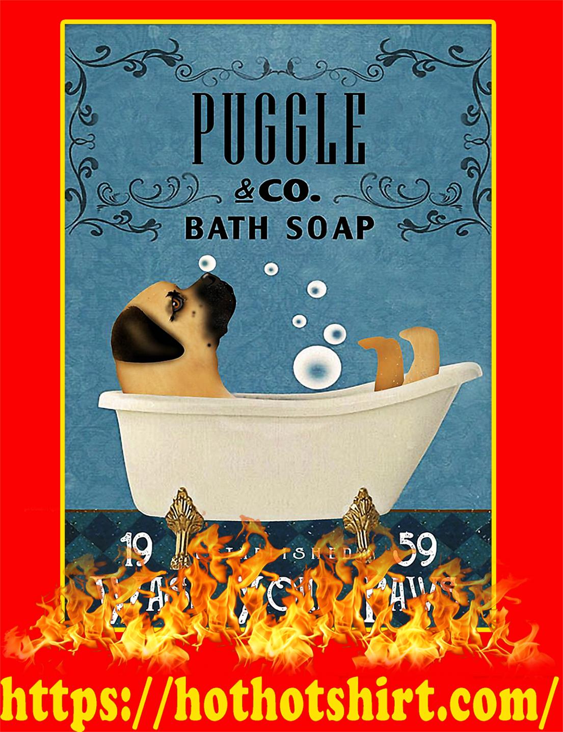Bath Soap Company Puggle Poster - A3