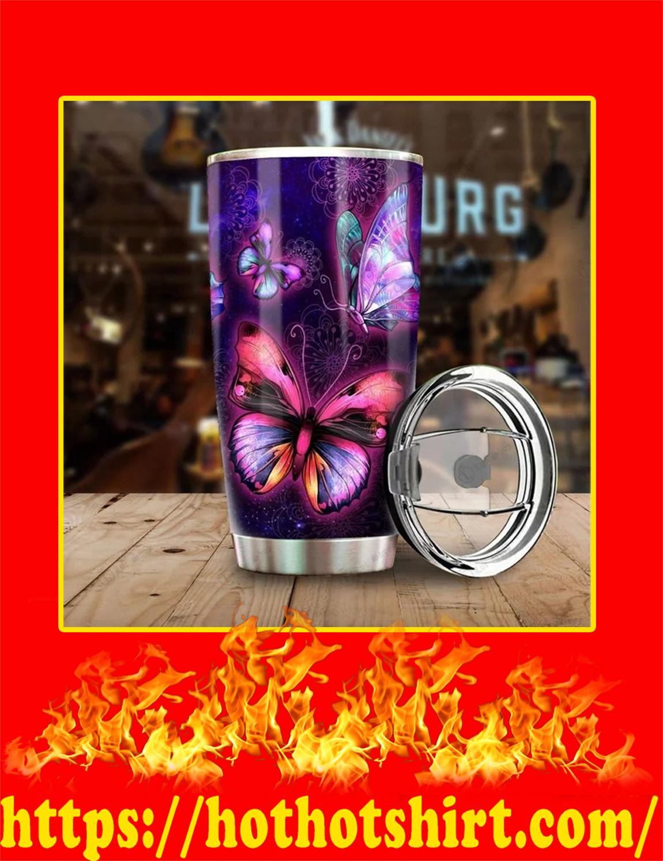 Beautiful Butterfly Steel Tumbler- 20 oz