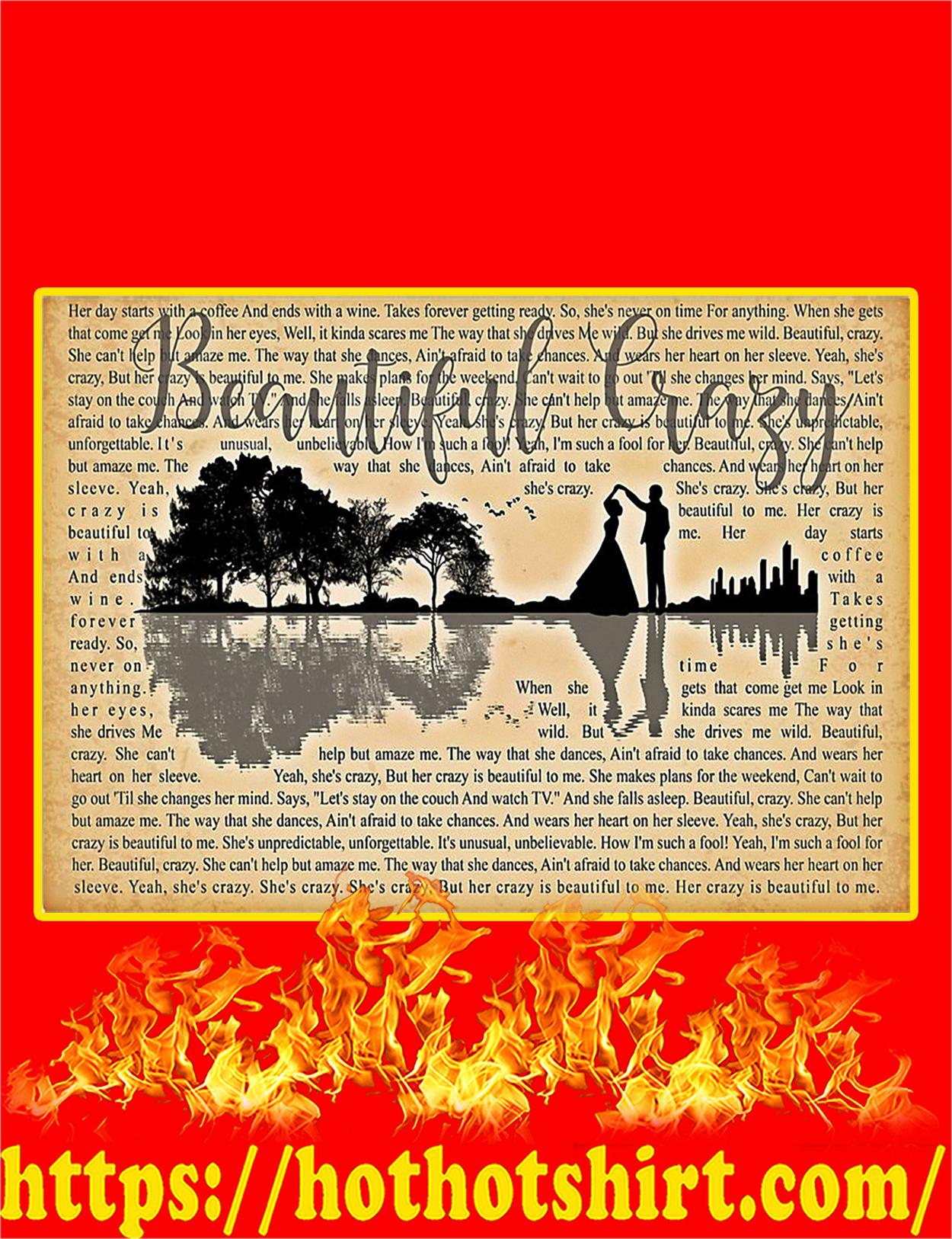 Beautiful Crazy Lyrics Poster - A3