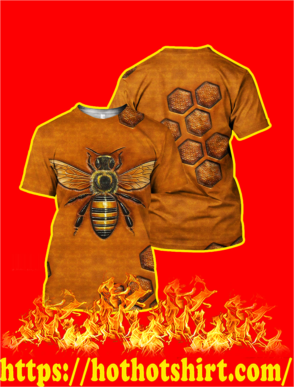 Bee 3D All Over Printed Shirt