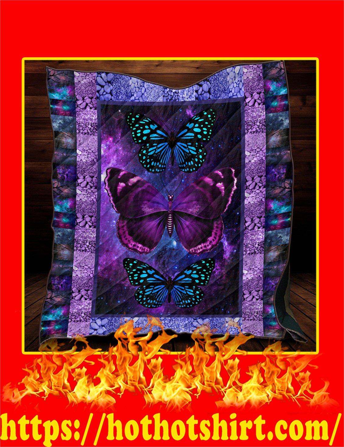 Butterfly Quilt Blanket- king