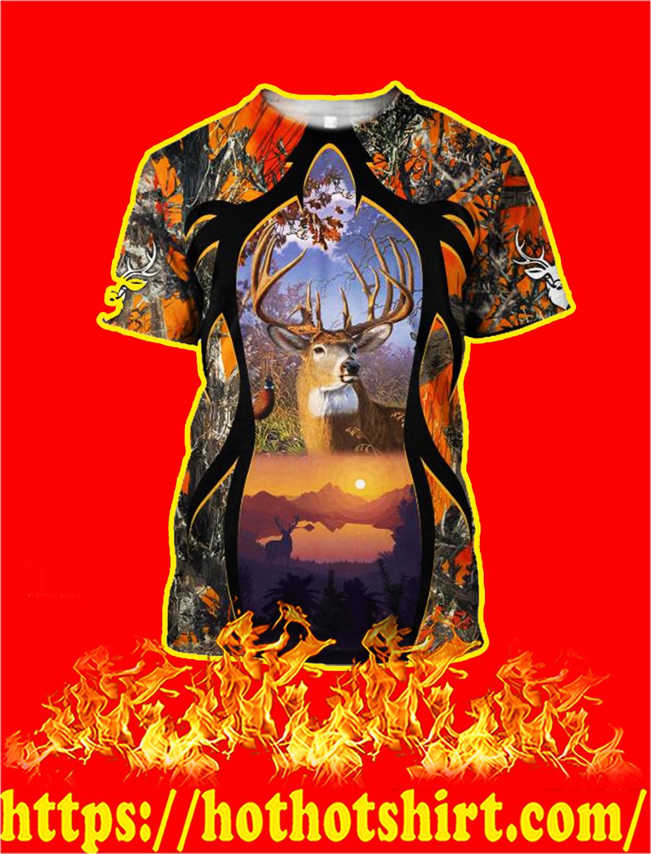 Camo Deer Hunter 3d shirt