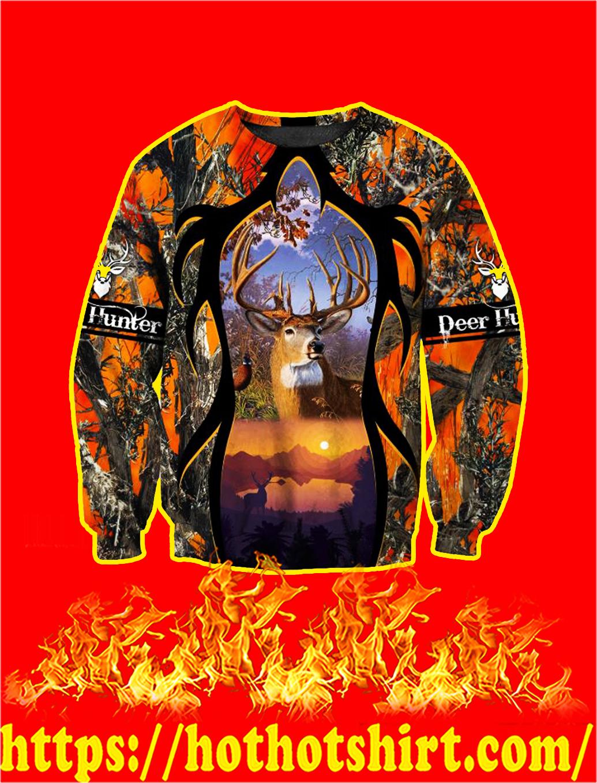Camo Deer Hunter 3d sweatshirt