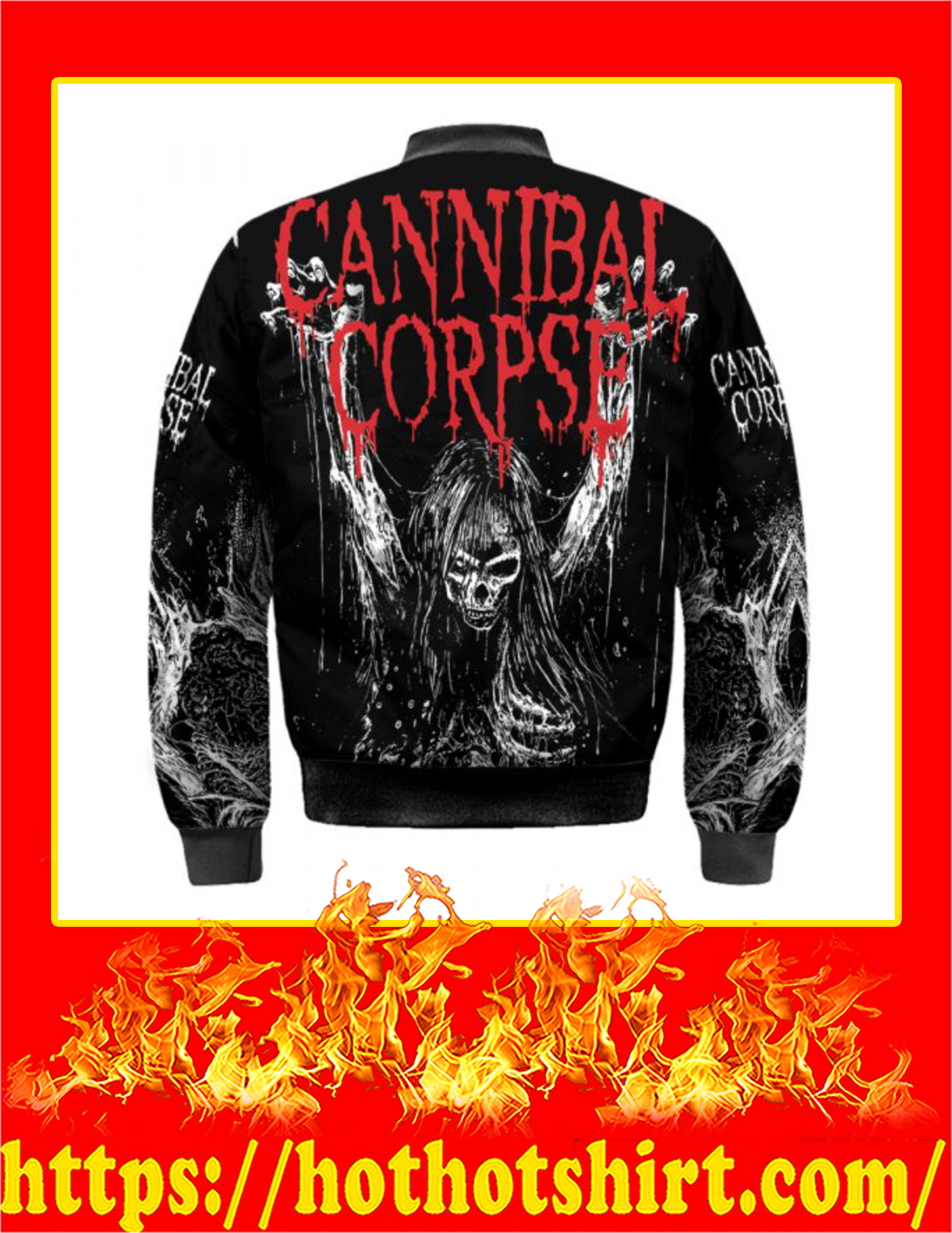 Cannibal Corpse Skull Bomber Jacket - Back