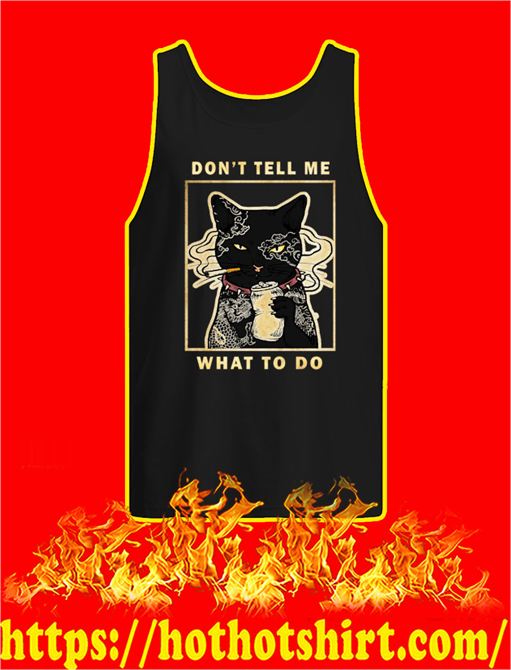 Cat Don't tell me what to do tank top