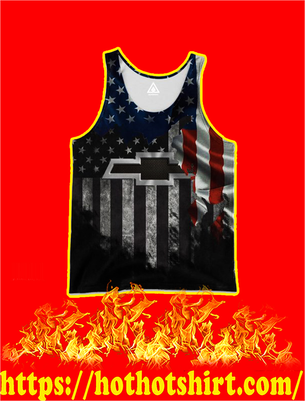 Chevrolet American Flag 3D All Over Printed tank top