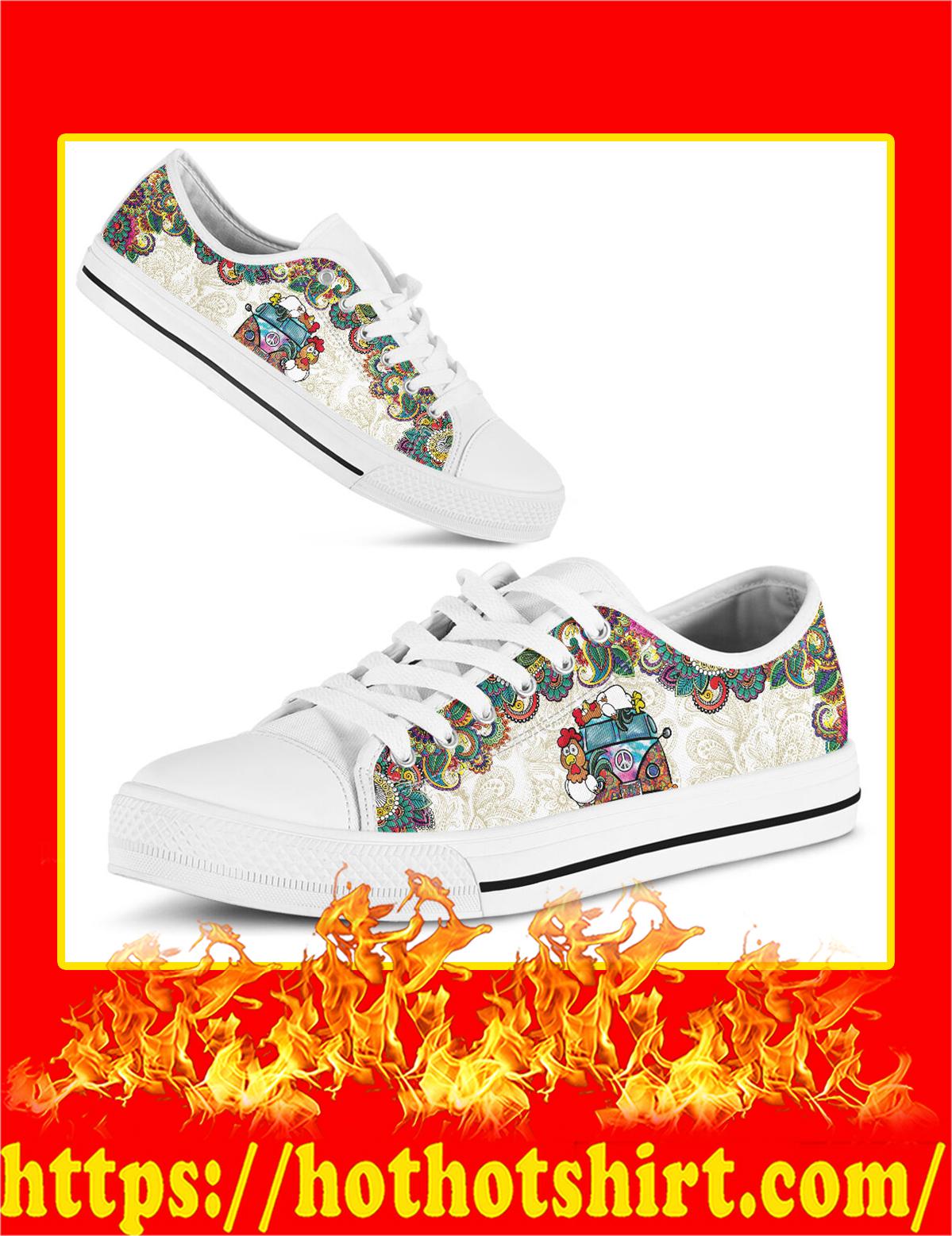 Chicken Hippie Van Low Top Shoes