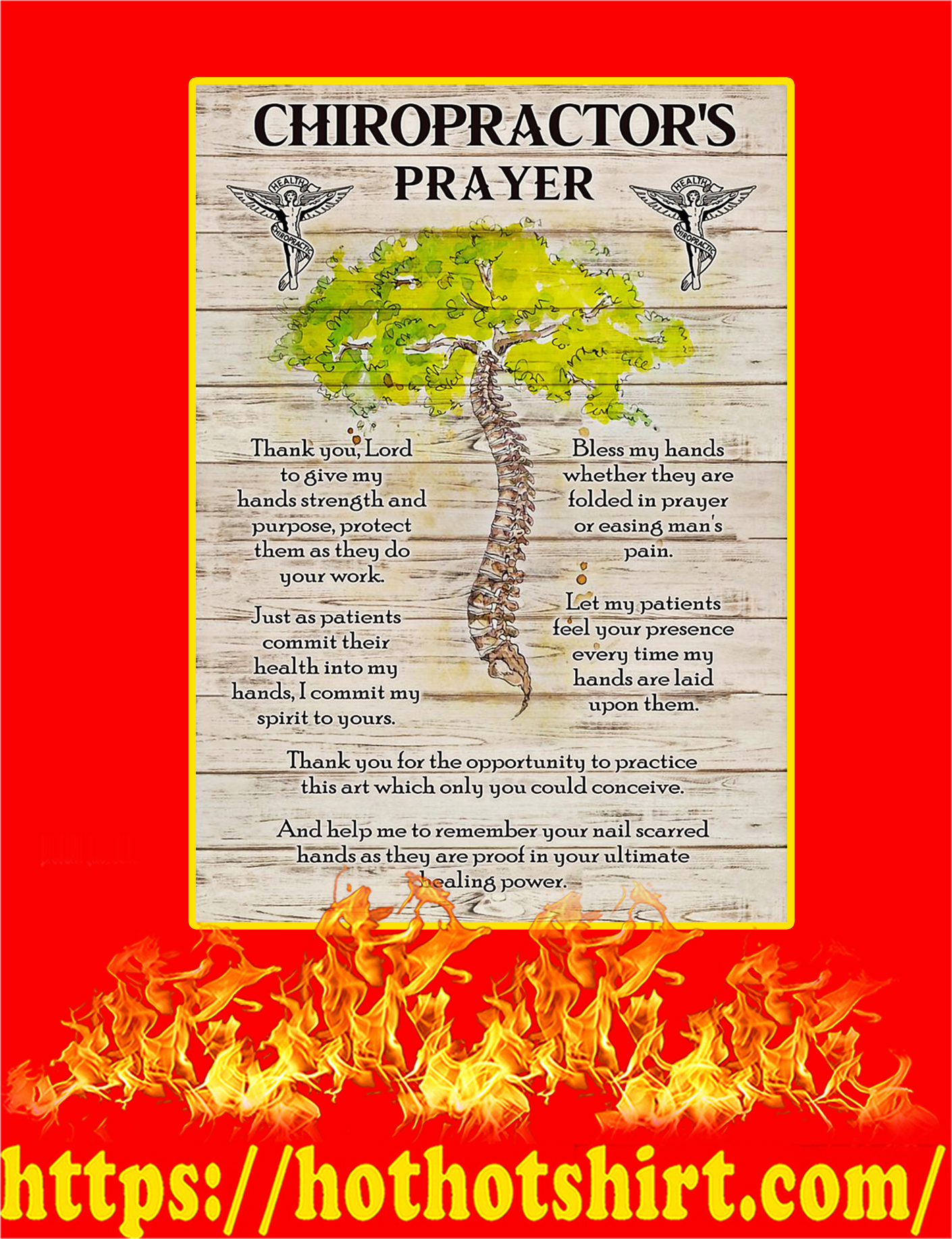 Chiropractor' Prayer Poster - A4