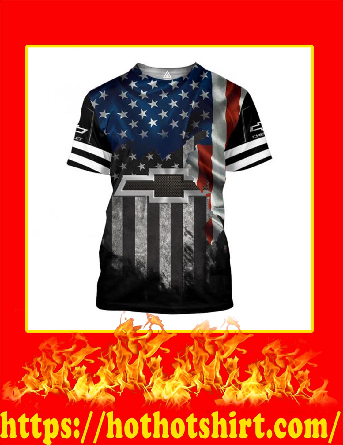 Chrvolet American Flag 3D All Over Printed 3d Shirt