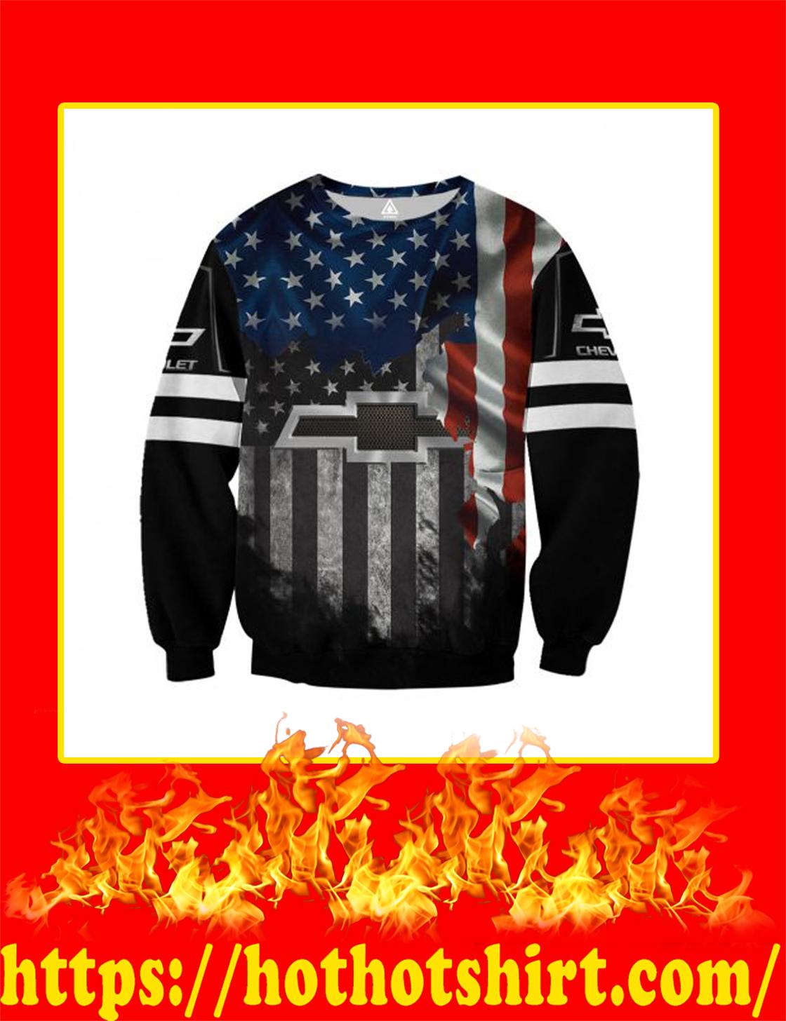 Chrvolet American Flag 3D All Over Printed 3d Sweatshirt
