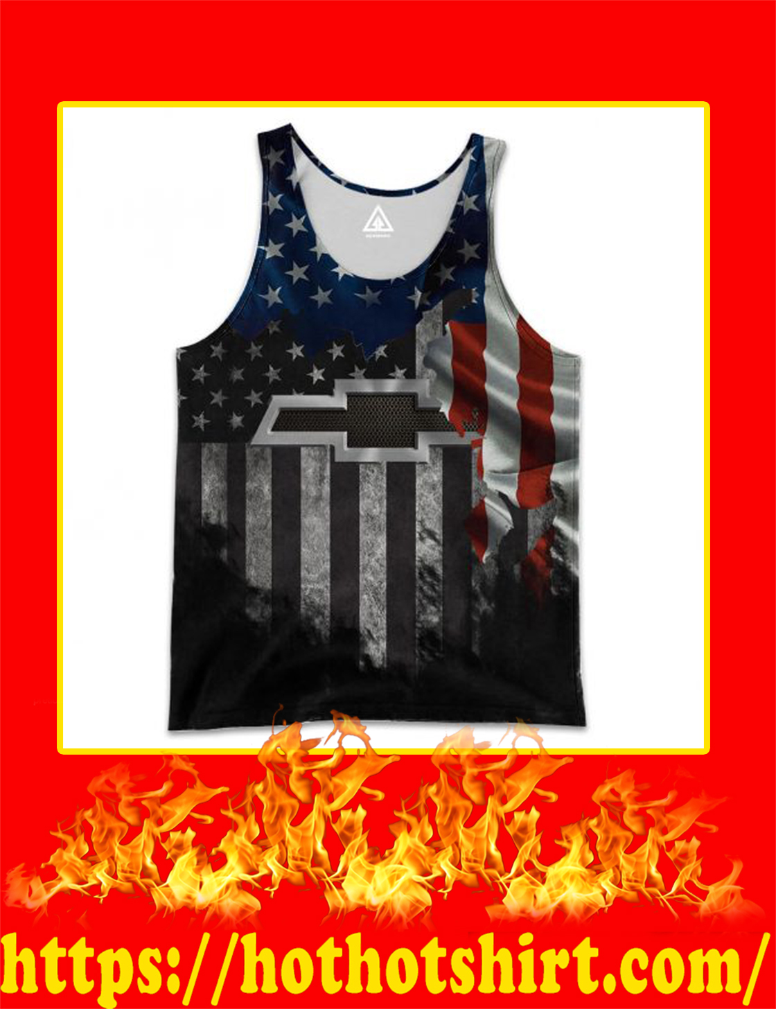 Chrvolet American Flag 3D All Over Printed 3d Tank top