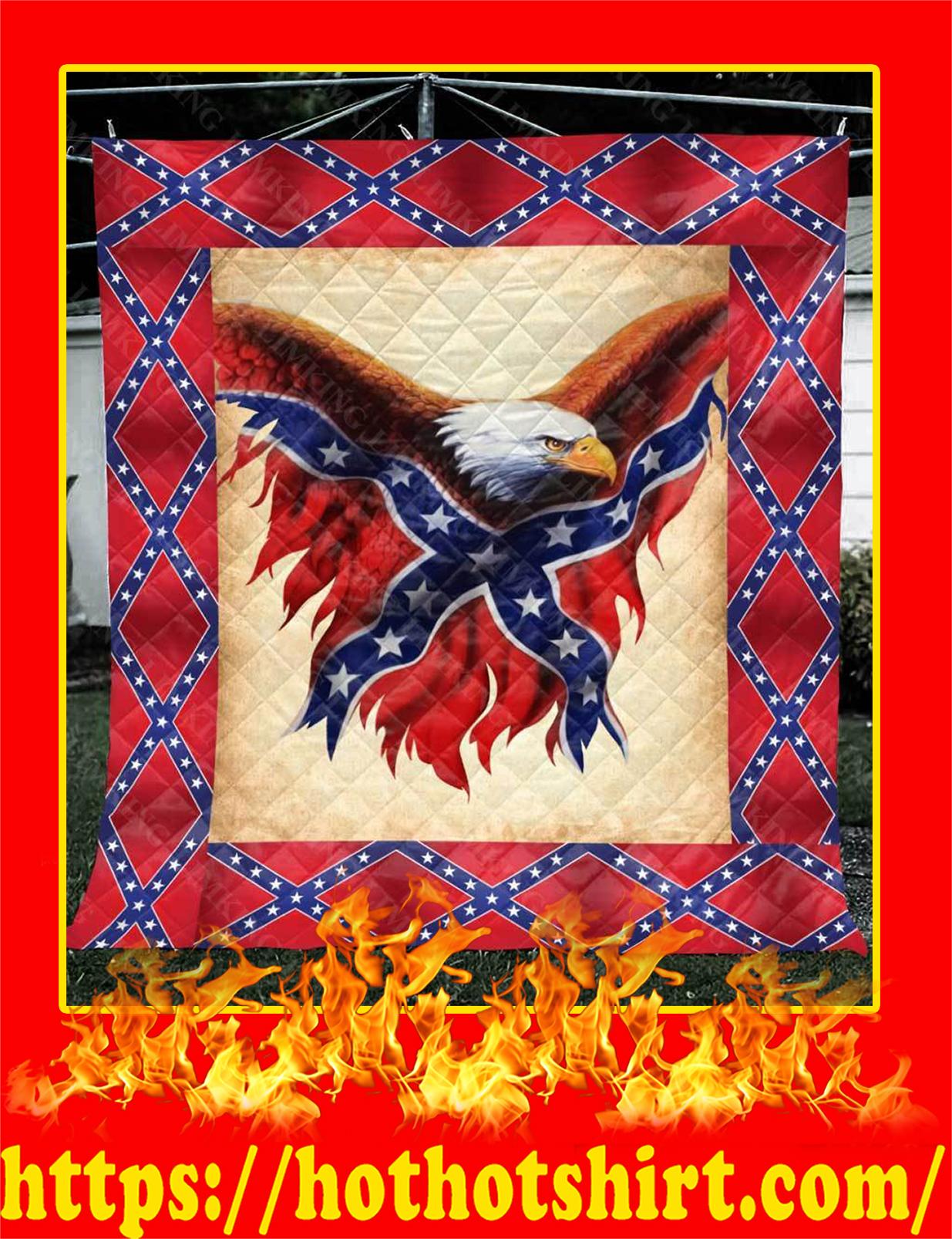 Confederate Flag Eagle Quilt - King