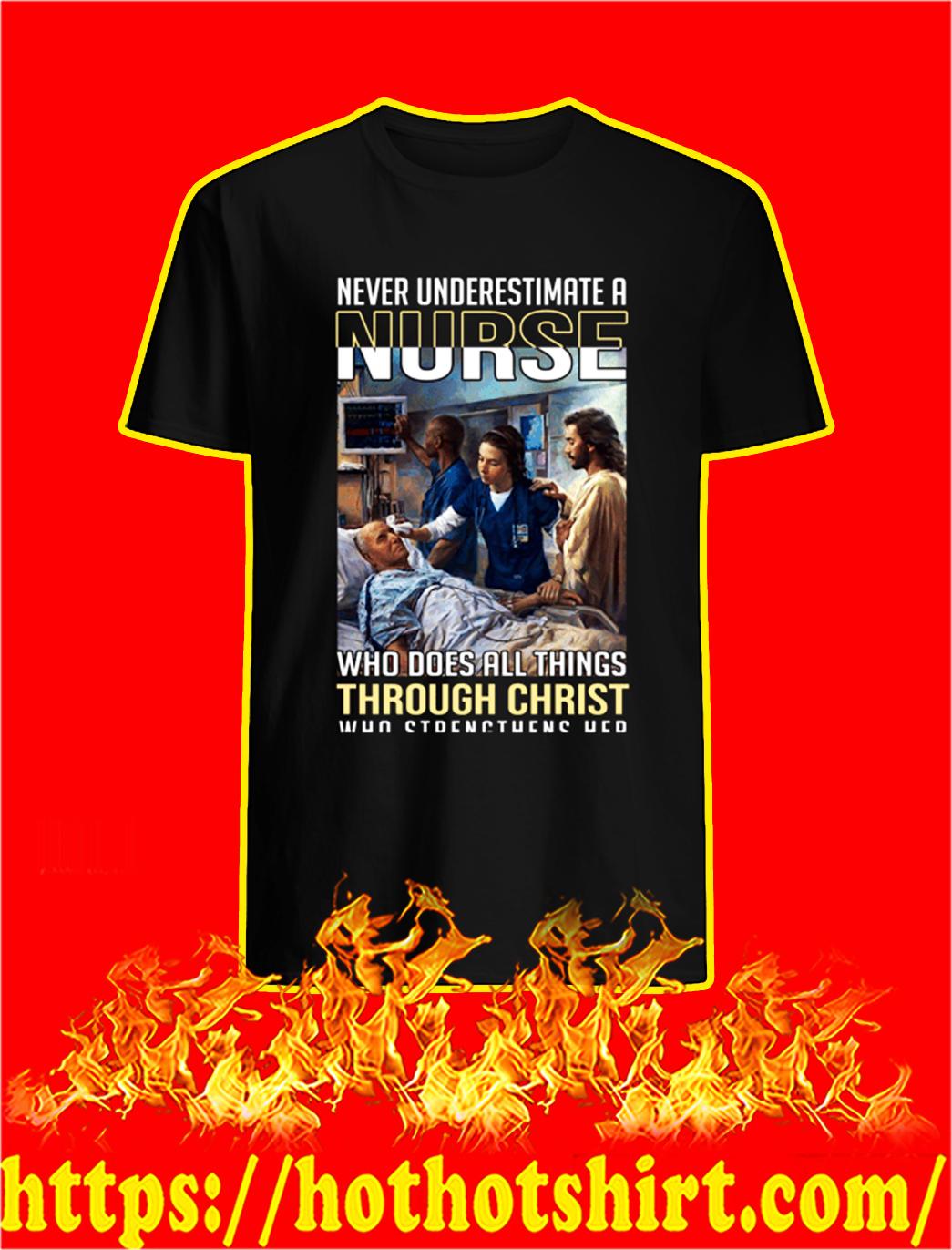 Coronavirus Never underestimate a nurse shirt