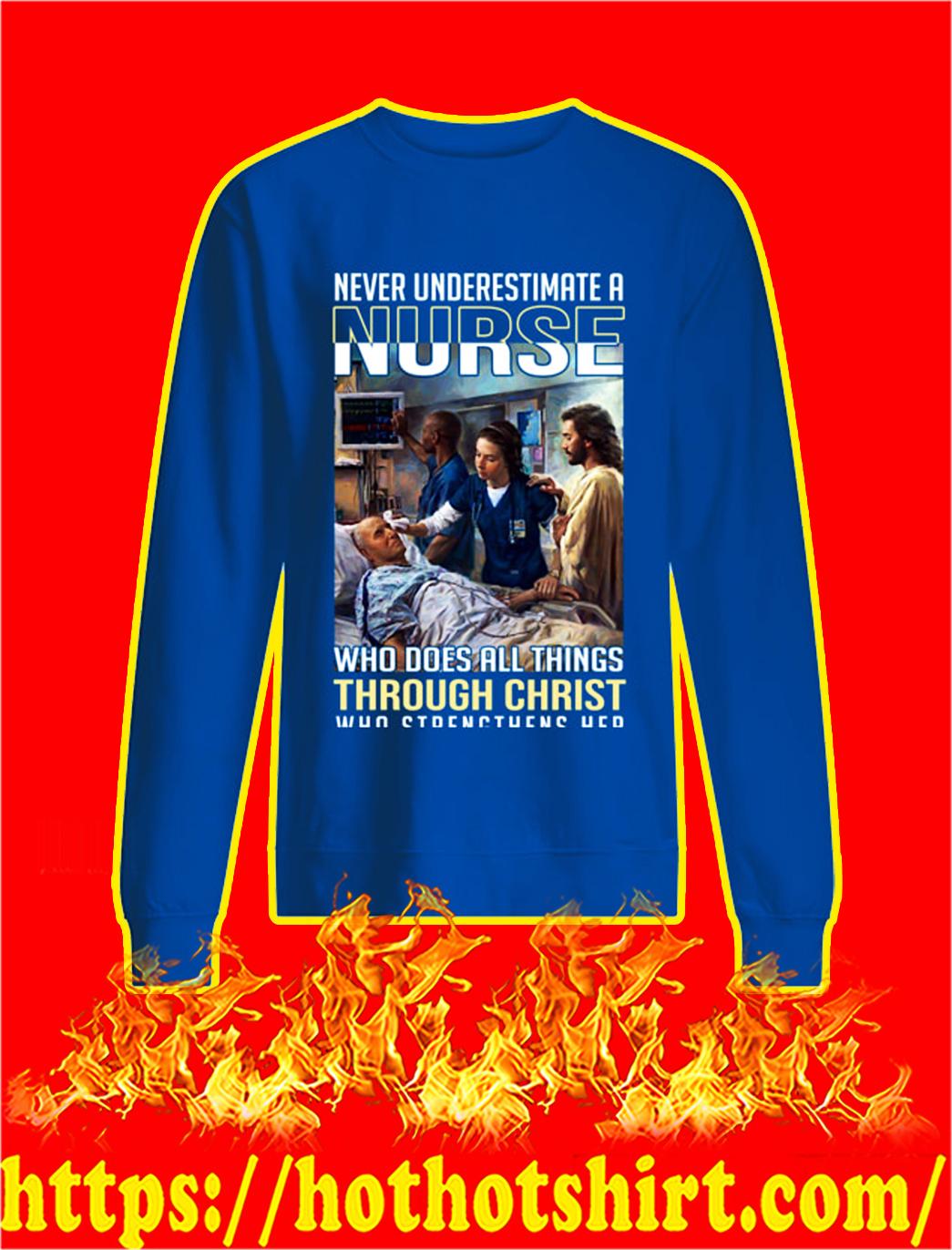 Coronavirus Never underestimate a nurse sweatshirtCoronavirus Never underestimate a nurse sweatshirt
