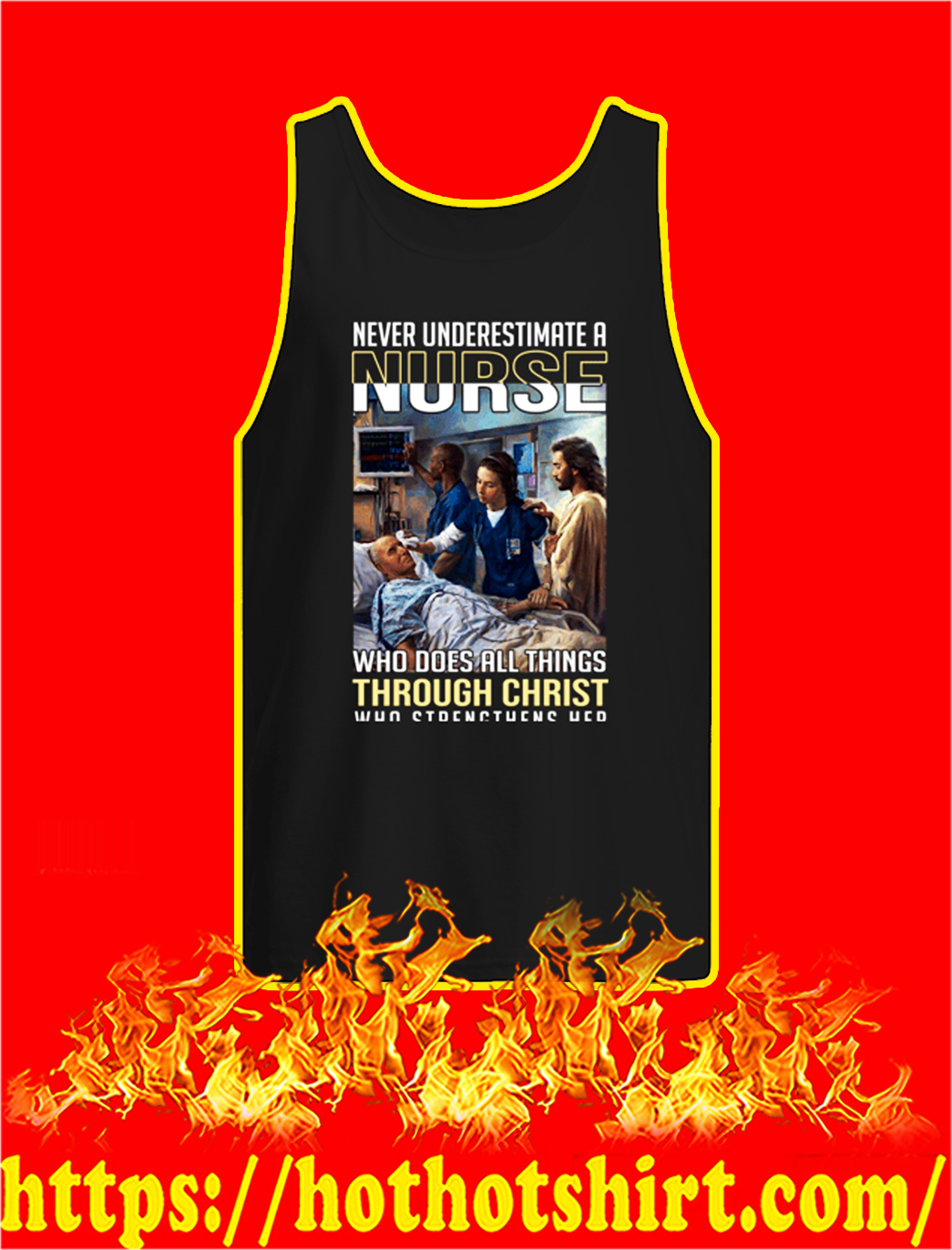 Coronavirus Never underestimate a nurse tank top