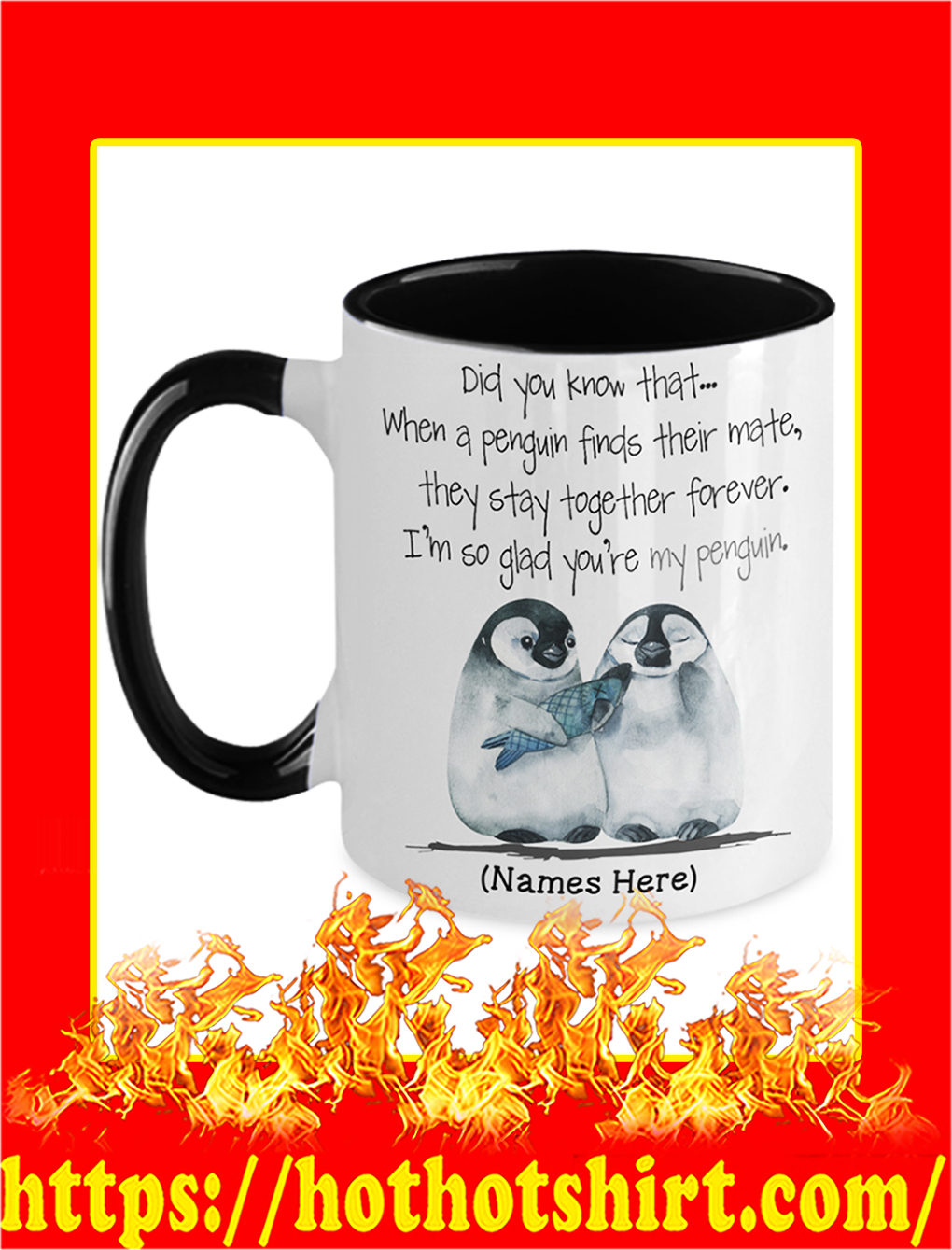 Custom Name Personalize Did You Know That When A Penguin Mug- picture 1