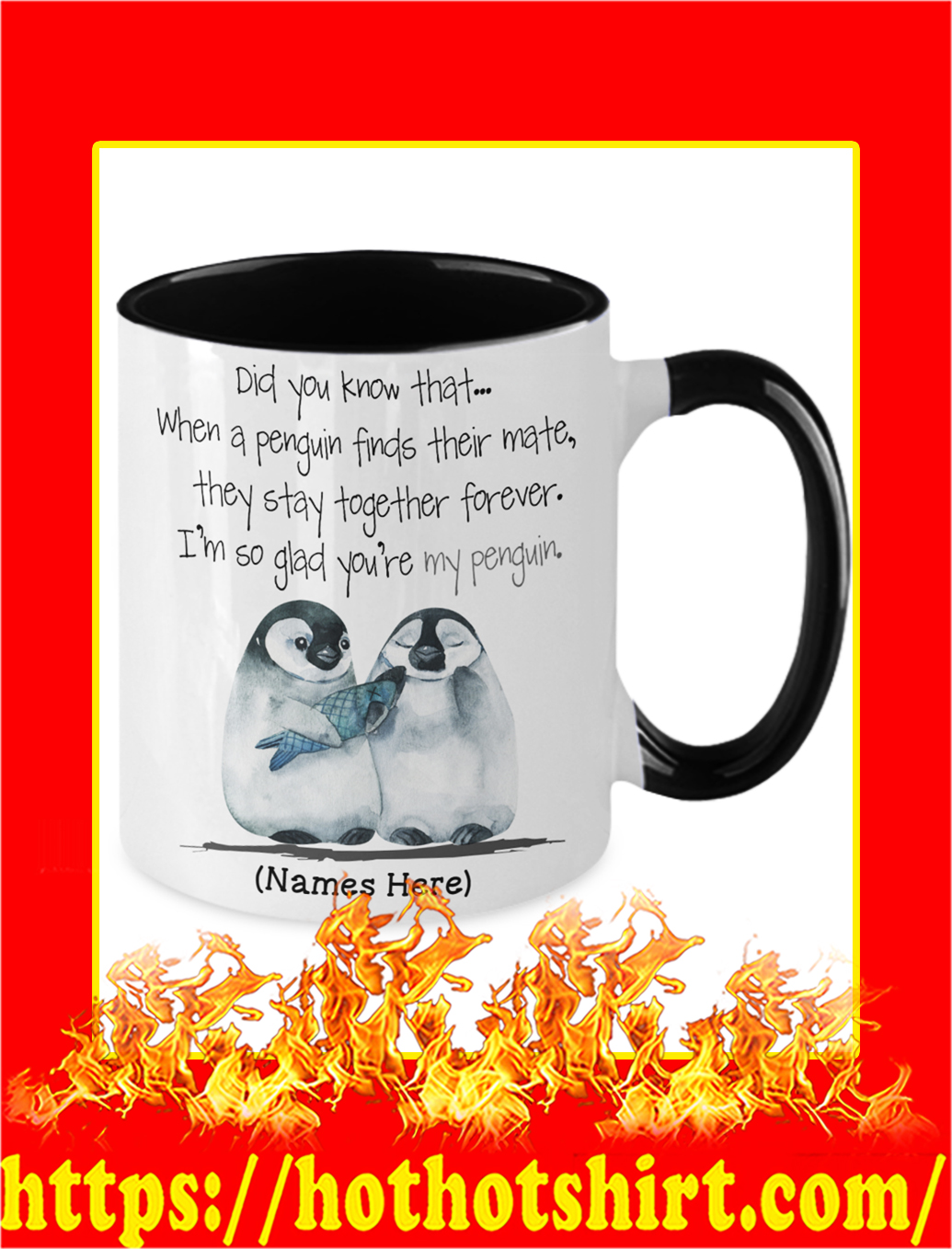 Custom Name Personalize Did You Know That When A Penguin Mug- picture 2