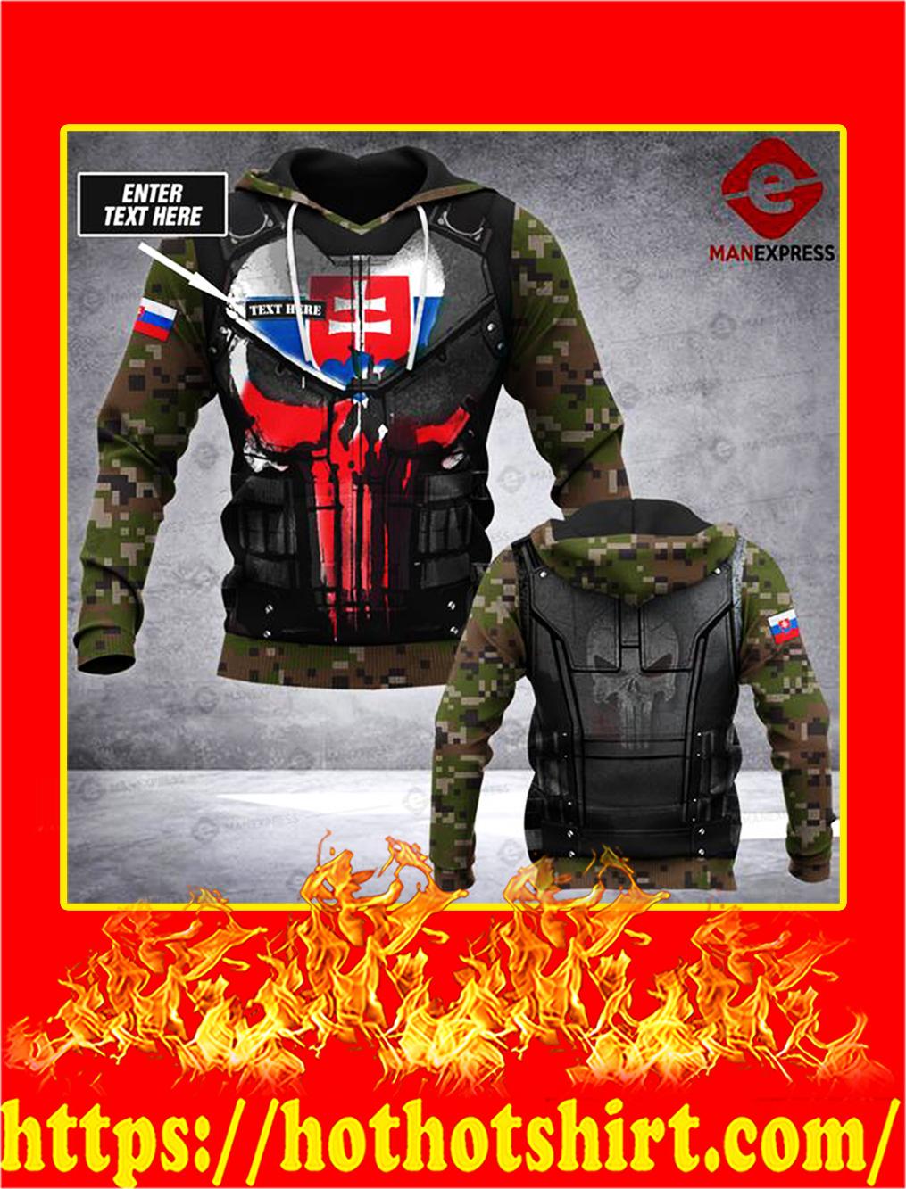 Customize Custom Name Slovak Army 3D All Over Print Hoodie - M