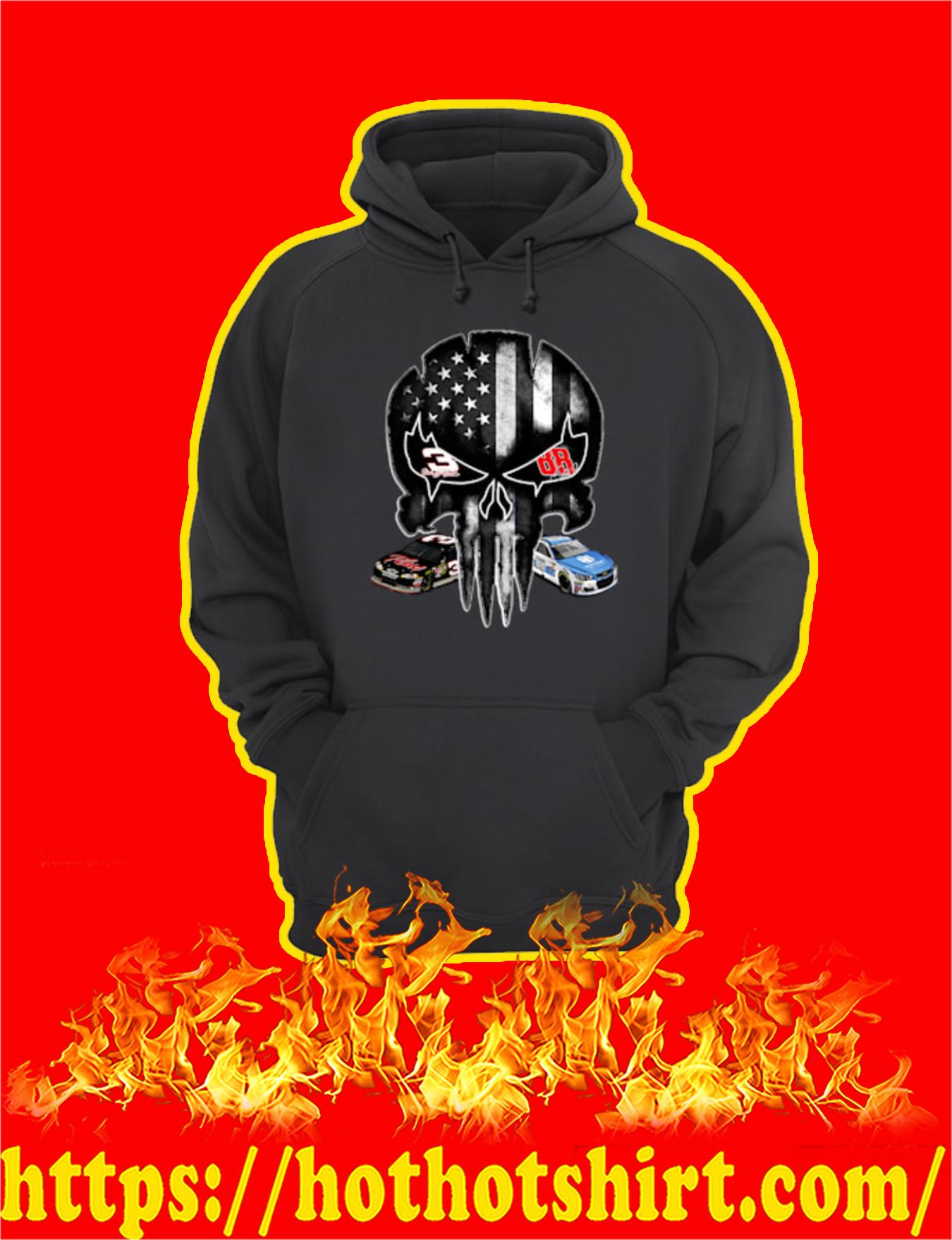 Dale Earnhardt Legend Punisher Skull Signature Hoodie