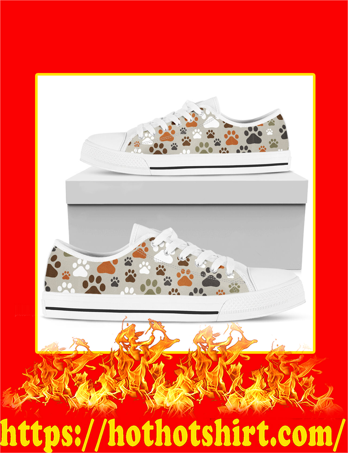 Dog Paw Low Top Shoes - Pic 2