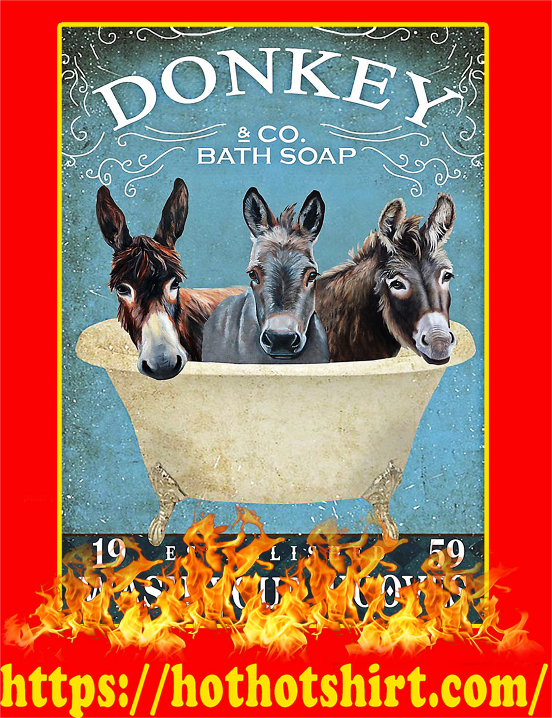 Donkey Company Bath Soap Poster - A2